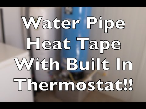 Water Pipe Heat Tape With Built In Thermostat Keep Your Lines From Freezing