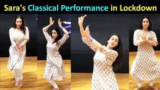 Sara Ali Khan AMAZING Kathak Classical DANCE In Quarantine Time!