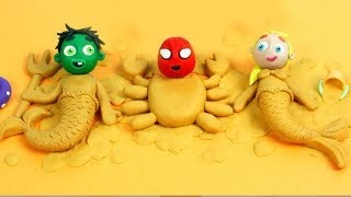 Video SUPERHERO BABIES MAKE SAND FIGURES ❤ Spiderman, Hulk & Frozen Elsa Play Doh Cartoons For Kids MP3, 3GP, MP4, WEBM, AVI, FLV Januari 2019
