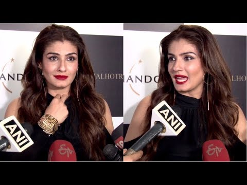 Raveena Tandon At Launch Of Manish Malhotra X Chandon Limited Edition End Of Year 2017 Bottles