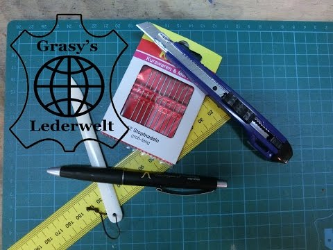 Leder Tipps #4 Nähtechniken für Leder (Handnähmaschine, Nadel, Nähahle)