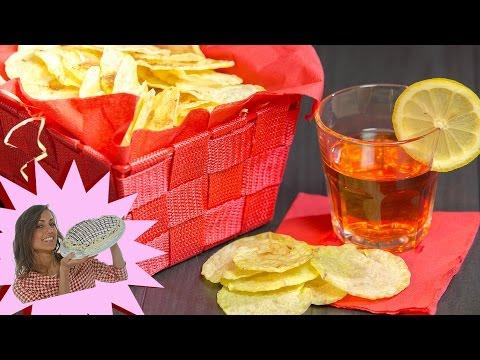 chips di patate in 10 minuti - croccantissime e senza olio!