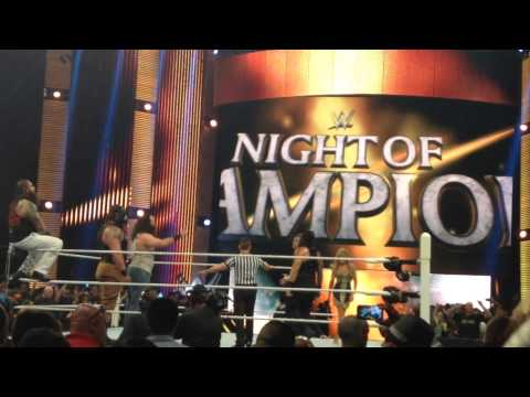 Guy jumps barricade at Night of Champions 2015 in