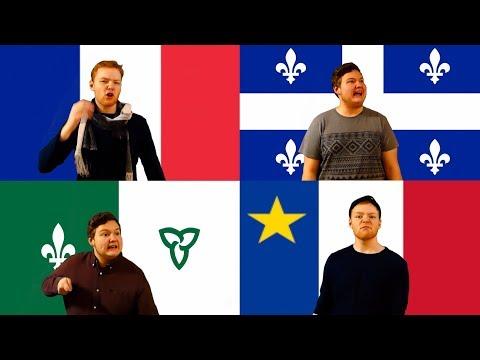 FRONCADIENCOIS !  (4 ACCENTS | FRANCE vs ONTARIO vs ACADIE vs QUÉBEC) (видео)
