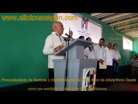 Pronunciamiento de Sectores y Organizaciones del PRI a favor de Arturo Parra Zapata, como pre candidato a Alcalde de Vega de Alatorre.