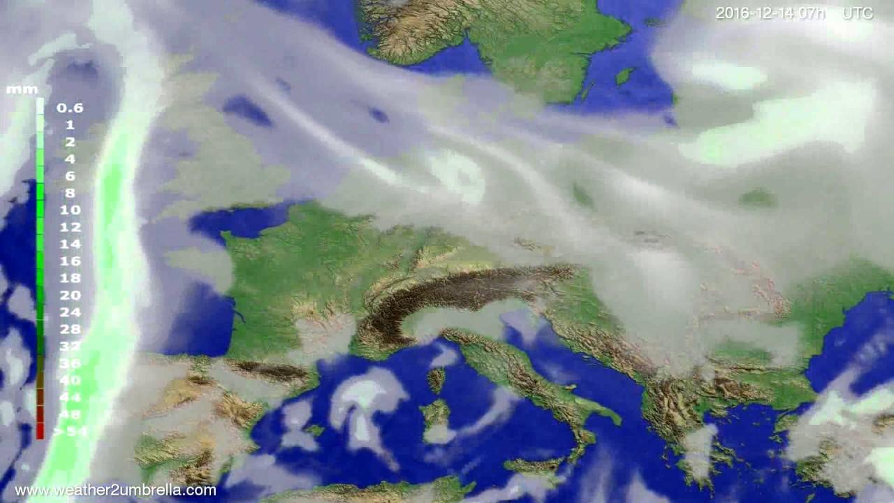 Precipitation forecast Europe 2016-12-10