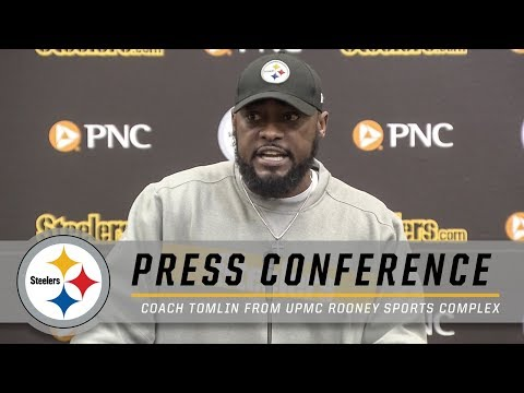 Tomlin on Ben's injury, Conner Update | Pittsburgh Steelers