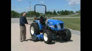 6. Install Drive Over Mid-Mount Mower Deck for Compact Tractors