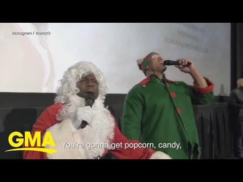 Kevin Hart and The Rock surprise 'Jumanji' fans l GMA