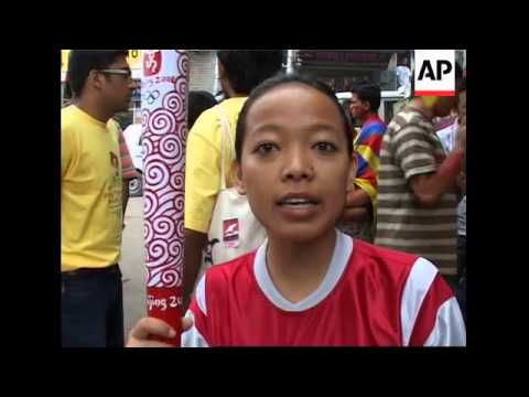 Tibetan exiles protest over Olympic torch ceremony in Lhasa