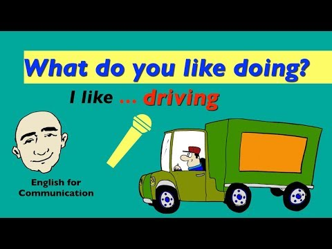Present Progressive Tense - What do you like doing? | English For Communication - ESL