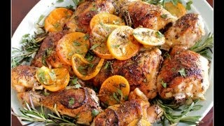 This easy and delicious chicken recipe - Herb and Citrus Oven Roasted Chicken Parts - is so fresh tasting it will make any day seem sunny. I season it with ...