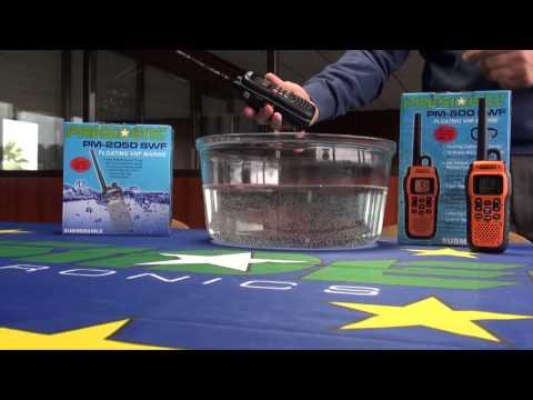 President VHF Marine Radio Floating Test