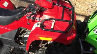 7. 2010 Arctic Cat 90 & 2007 KFX 90
