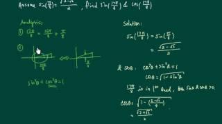 Assume sin(pi/8) = sqrt(2-sqrt(2))/2, find sin(17pi/8) and cos(17pi/8)