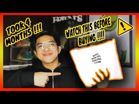 WATCH THIS BEFORE BUYING ANTI SOCIAL SOCIAL CLUB!!! + UNBOXING