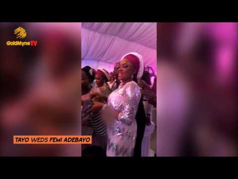 FEMI ADEBAYO'S WEDDING: COUPLE FIRST DANCE