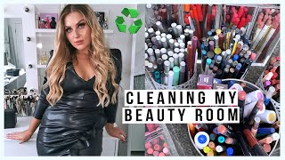 clean my BEAUTY ROOM with me! ♻️ organising & decluttering my makeup & junk! 😍 by Shaaanxo
