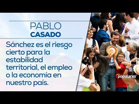 Sánchez es el riesgo cierto para la estabilidad territorial, el empleo o la economía en nuestro país