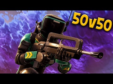 ACTION-PACKED 50 vs 50 WAR FROM LIVE STREAM w/FRIENDS & SUBS! Fortnite Battle Royale Gameplay Ep. 20 (видео)