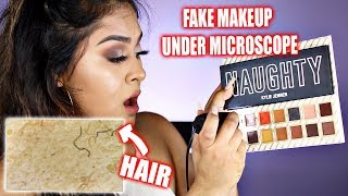 How Does FAKE MAKEUP Look Under a Microscope! OMG