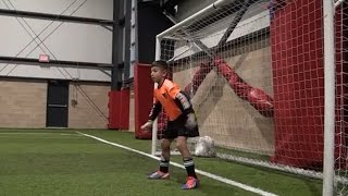 Amazing 9 year old soccer goalkeeper! Dino Bontis
