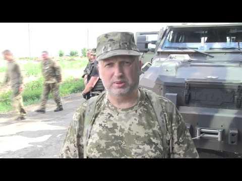 Александр Турчинов проверил новую систему электронных пропусков в зоне