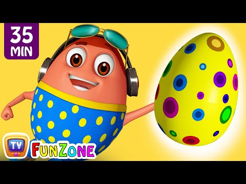 Learn YELLOW Colour with Johny Johny Yes Papa | Surprise Eggs Colors Ball Pit Show | ChuChuTV 3D Fun