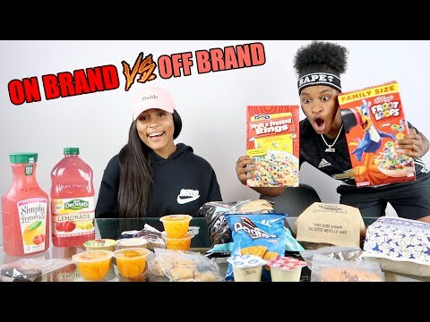 NAME BRAND vs GENERIC FOOD!!! (Blind Taste Test)