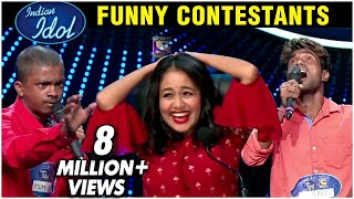 Video Indian Idol 11 Auditions FUNNY Contestants Singing Dancing With Neha Kakar Anu Malik Vishal Dadlani download in MP3, 3GP, MP4, WEBM, AVI, FLV January 2017
