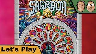 Alex & Peat schauen sich das Kickstarter-Spiel Sagrada von Floodgate Games an.▶Kanal abonnieren: http://www.youtube.com/user/hunterundcron?sub_confirmation=1▶Homepage: http://www.hunterundcron.de▶Brettspiele bei Spiele-Offensive kaufen: http://bit.ly/1spkvqX▶Brettspiele bei Amazon kaufen: http://amzn.to/1pcOP14▶Brettspiele bei Milan-Spiele kaufen: http://bit.ly/1D2l8vwDurch das Benutzen dieser Partnerlinks beim Spielekauf kannst Du unsere Arbeit unterstützen. Dir entstehen dabei keine zusätzlichen Kosten. Vielen Dank.SAGRADAvon Adrian Adamescu, Daryl AndrewsFloodgate Games (2017)Altersempfehlung:  ab 14 JahrenSpieleranzahl: 1-4 SpielerSpielzeit: 20-40 Min.Preis: 35$ (Kickstarter)▶Auf Patreon kannst Du uns dauerhaft unterstützen: https://www.patreon.com/hunterundcron▶Unsere T-Shirts gibt es hier: http://www.hunterundcron.de/shopWIE DER VERLAG DAS SPIEL BESCHREIBTDraft dice and use the tools-of-the-trade in Sagrada to carefully construct your stained glass window masterpiece.In more detail, each player builds a stained glass window by building up a grid of dice on their player board. Each board has some restrictions on which color or shade (value) of die can be placed there. Dice of the same shade or color may never be placed next to each other. Dice are drafted in player order, with the start player rotating each round, snaking back around after the last player drafts two dice. Scoring is variable per game based on achieving various patterns and varieties of placement...as well as bonus points for dark shades of a particular hidden goal color.Special tools can be used to help you break the rules by spending skill tokens; once a tool is used, it then requires more skill tokens for the next player to use them.The highest scoring window artisan wins!▶Brettspiel-Club: http://bit.ly/brettspielclub▶Brettspiel-Reviews: http://bit.ly/huc_reviews▶Let's Play Brettspiele: http://bit.ly/huc_letsplaysFür dieses Video stand uns ein Rezensionsexemplar zur Verfügung.Hunter & Cron we