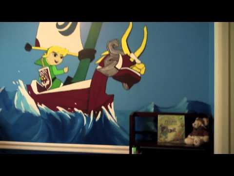 Il peint l univers de zelda pour la chambre de son b b for Chambre zelda