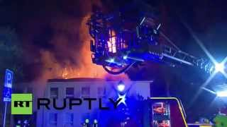 Trassenheide Germany  city photos : Germany: Massive blaze engulfs planned refugee centre in coastal town