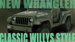 10. New Wrangler built to look like classic army Willys Jeep