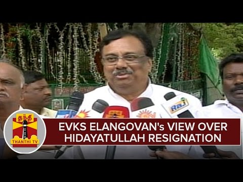TN-Elections-2016--EVKS-Elangovans-View-Over-Hidayatullah-Resignation-From-Party