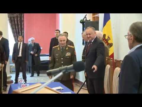 Șeful statului a participat la ședința Consiliului Republican al Uniunii Ofiţerilor din Moldova