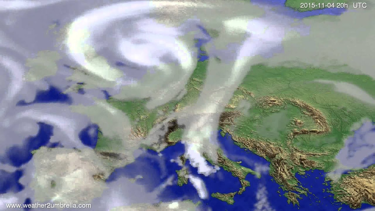 Cloud forecast Europe 2015-11-02