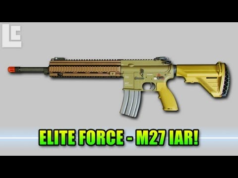 New Elite Force Guns - Hey guys I have a special sneak peak at a brand new gun coming out from Elite Force! The M27 IAR (Infantry Automatic Rifle) Elite Force M27 Info: http://www....