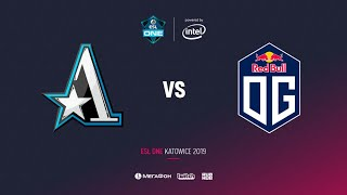 Team Aster vs OG, ESL One Katowice 2019, bo3, game 1, [4ce & Eiritel]