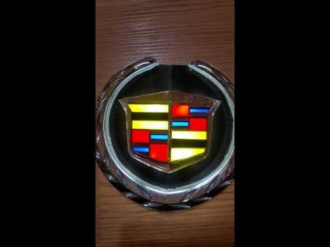 Led lighted cadillac crest