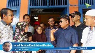 Irwandi Serahkan Rumah Yatim di Meulaboh