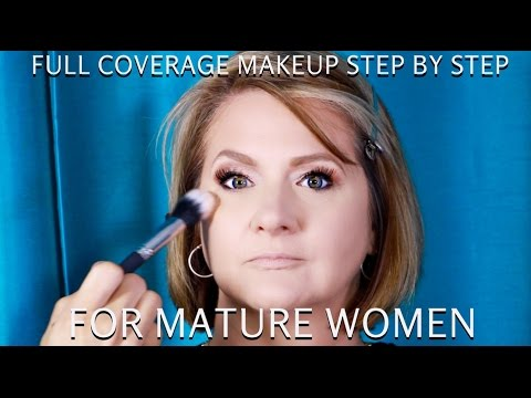 Full Coverage Makeup for Mature Women over 40 Step by Step Makeup Tutorial - mathias4makeup