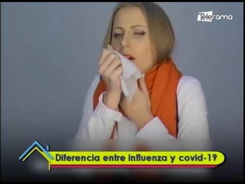 Diferencia entre influenza y covid-19