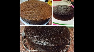 Egg less chocolate cake made without oven