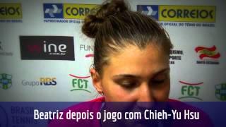 Bia Haddad Maia comemora primeira vitória no Brasil Tennis Cup