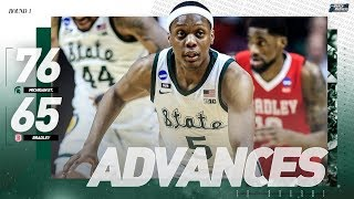 Michigan State vs. Bradley: First round NCAA tournament extended highlights