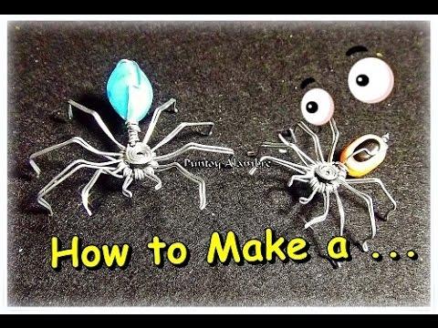Como Hacer una Araña en Alambre//How to Make a Wire Spider-By Puntoy Alambre