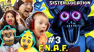 WHO NAMES THEIR SON FOXY? FNAF SISTER LOCATION #3 w Chica & Freddy (FGTEEV Fun Times SCARY Gameplay)