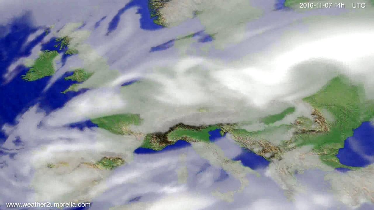 Cloud forecast Europe 2016-11-03