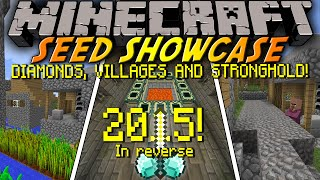 Minecraft: Seed Showcase 1.8.1 - Reversed 2015!! DIAMONDS, 2 VILLAGES, STRONGHOLD!! (1440p)